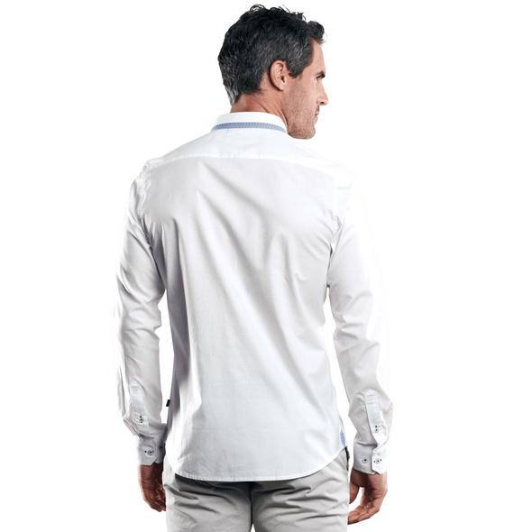 Unifarbenes Hemd mit Details