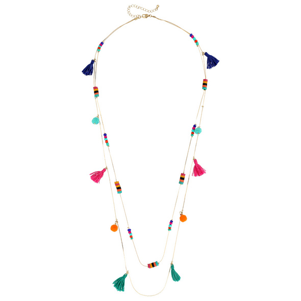 Kette - Colorful Tassel