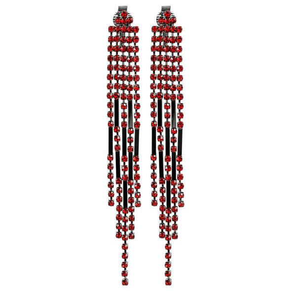 Ohrclips - Festive Red