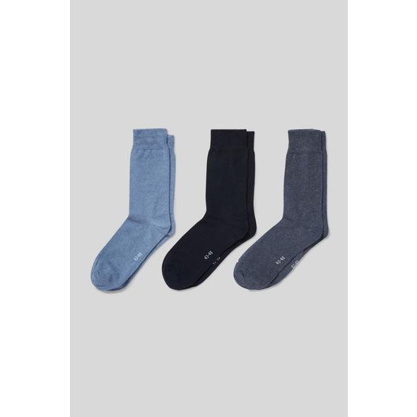 Socken - Bio-Baumwolle - 3 Paar - Comfort Stretch