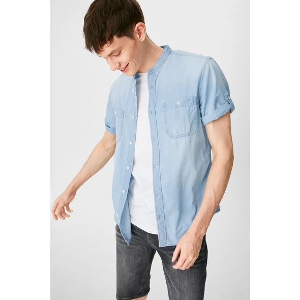 CLOCKHOUSE - Hemd - Regular Fit - Stehkragen