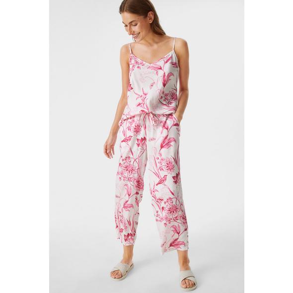 Pyjamahose - geblümt