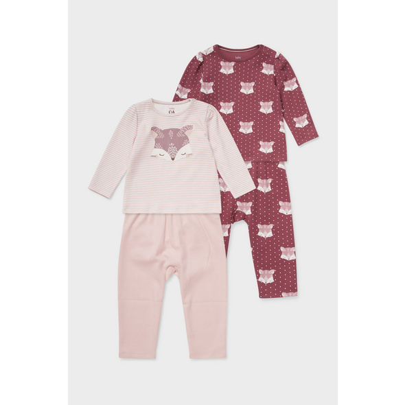 Multipack 2er - Baby-Pyjama - Bio-Baumwolle