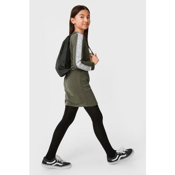 Set - Sweatkleid und Tasche - 2 teilig