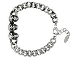Armband - Silver Skulls