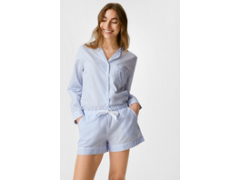 Pyjamashorts - gestreift
