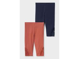 Multipack 2er - Capri-Leggings - Bio-Baumwolle