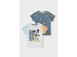 Multipack 2er - Micky Maus - Baby-Kurzarmshirt - Bio-Baumwolle