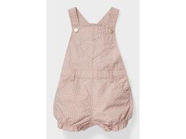 Baby-Latzhose - Bio-Baumwolle - gepunktet