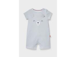 Baby-Schlafanzug - Bio-Baumwolle - gestreift