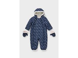 Baby-Schneeanzug - recycelt - geblümt