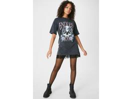 CLOCKHOUSE - T-Shirt-Kleid - 2-in-1-Look